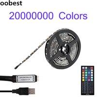 Oobest HA CONDOTTO La Striscia RGB Multicolor 5050 Retroilluminazione TV PC Sfondo Kit di Illuminazione Con 44Key Regolatore di IR Home Theater Decorazione