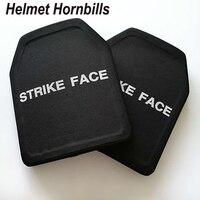 Capacete hornbills 2 pçs alumina & pe nij nível iv painel à prova de balas/al2o3 nível 4 balístico painel/nível 4 placas dhl frete grátis|leveling plates|panel plateplate ballistic -