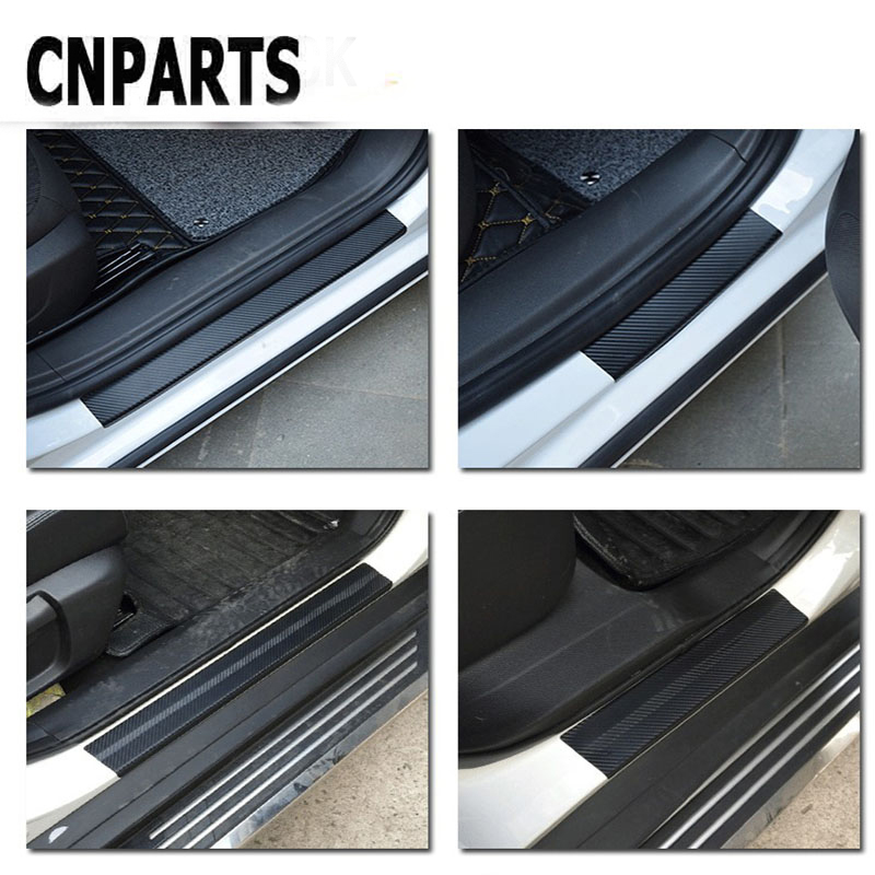 CNPARTS For VW Passat B5 B6 Polo <font><b>Golf</b></font> <font><b>4</b></font> 5 Chevrolet Cruze Lada Granta RAM Car Carbon Fiber Scratch Strip Protection Pad image