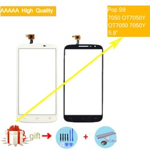 For Alcatel One Touch Pop S9 7050 OT7050Y OT7050 7050y Touch Screen Touch Panel Sensor Digitizer Front Glass Touchscreen NO LCD lcd for alcatel one touch flash 6042 ot6042 6042d lcd display touch screen digitizer panel assembly for alcatel one touch flash