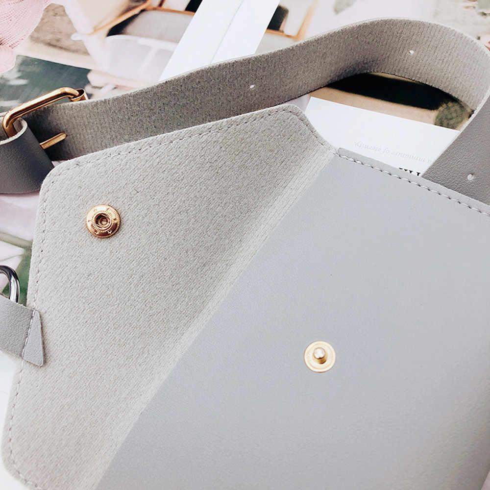 2019 bolsa de cintura de couro bolsa de cintura feminina bolsa de cintura de moda de cor pura bolsa de mensageiro de plutônio