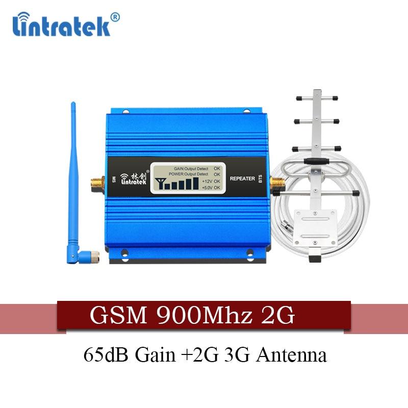 Livraison gratuite Lintratek russie 2G GSM 900 Mhz répéteur de signal 2g répétidor 900 MHz 65dB amplificateur de Signal de téléphone cellulaire 2G 3G antenne