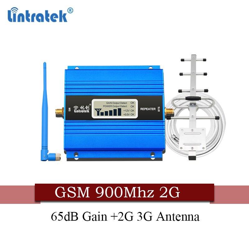 Livraison gratuite Lintratek russie 2G GSM 900Mhz répéteur de signal 2g répétidor 900MHz 65dB amplificateur de Signal de téléphone cellulaire 2G 3G antenne