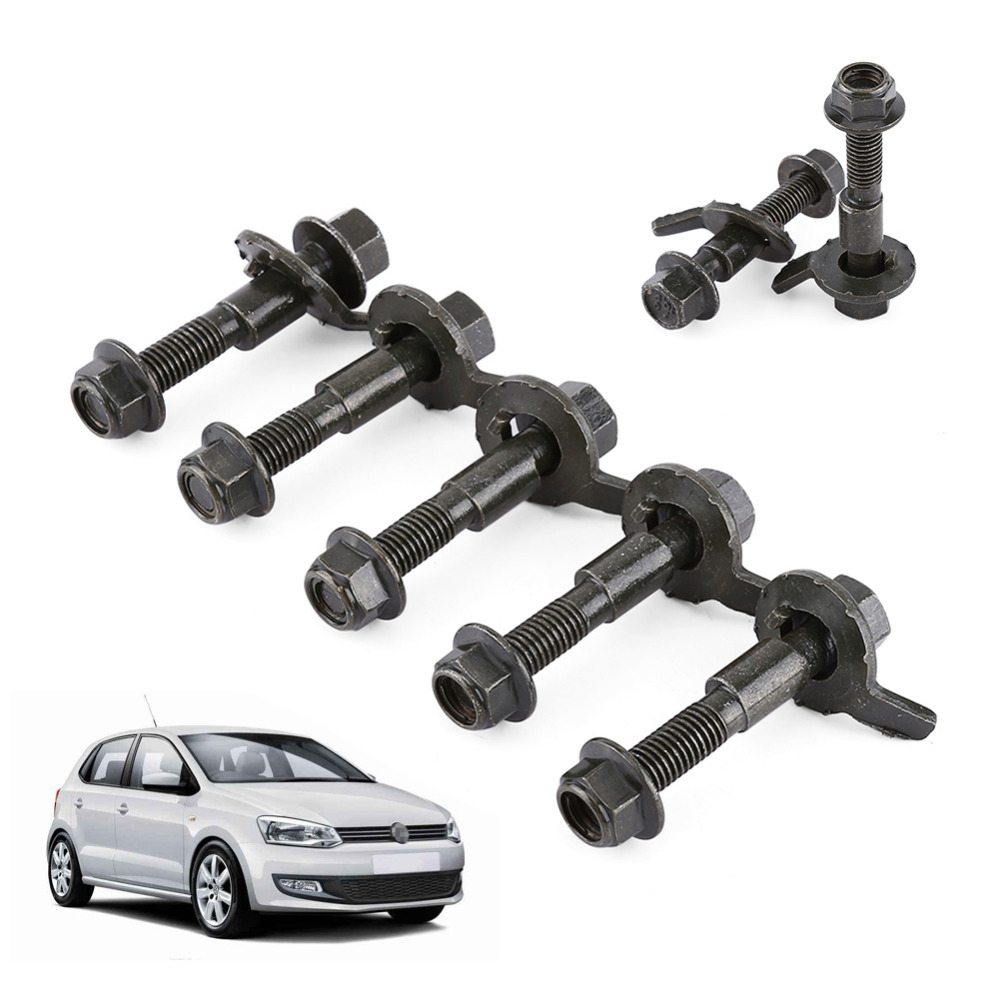 2017 New 5pcs/Set 12mm Vehicles Steel Four Wheel Alignment Adjustable Camber Kit Cam Bolt Car Styling