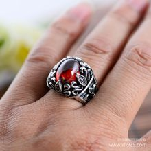 Black silver jewelry wholesale 925 sterling silver jewelry Sirius eyes Mens Black Onyx Ring 043891w