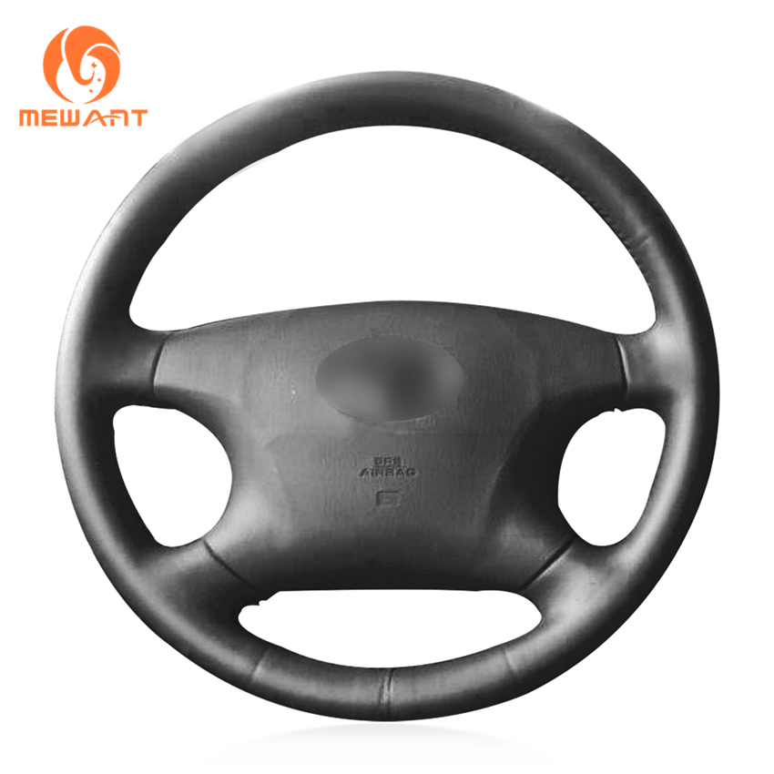 MEWANT Black Artificial Leather Car Steering Wheel Cover for Old Toyota Corolla Avalon M ...