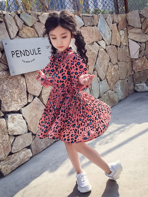 0b45af8ddb4f4a9 ... детские платья с длинными рукавами 10, 12 лет, весеннее шифоновое  принце. 2019 New Toddler Girls Dress Long Sleeve Leopard Kids Dresses For  Girls 10 12 ...