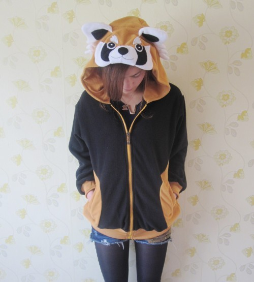 Women Spring Coat Bear Animal Hoodie with ears Hoody Bear Cosplay Costume Racoon sweatshirt Christmas gift