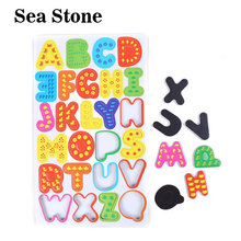 26db / készlet Fa mágnes ABC tanulás ábécé levélmágnesek hűtőszekrény gyermek korai oktatási fa játékok gyerekeknek Gyerekjátékok