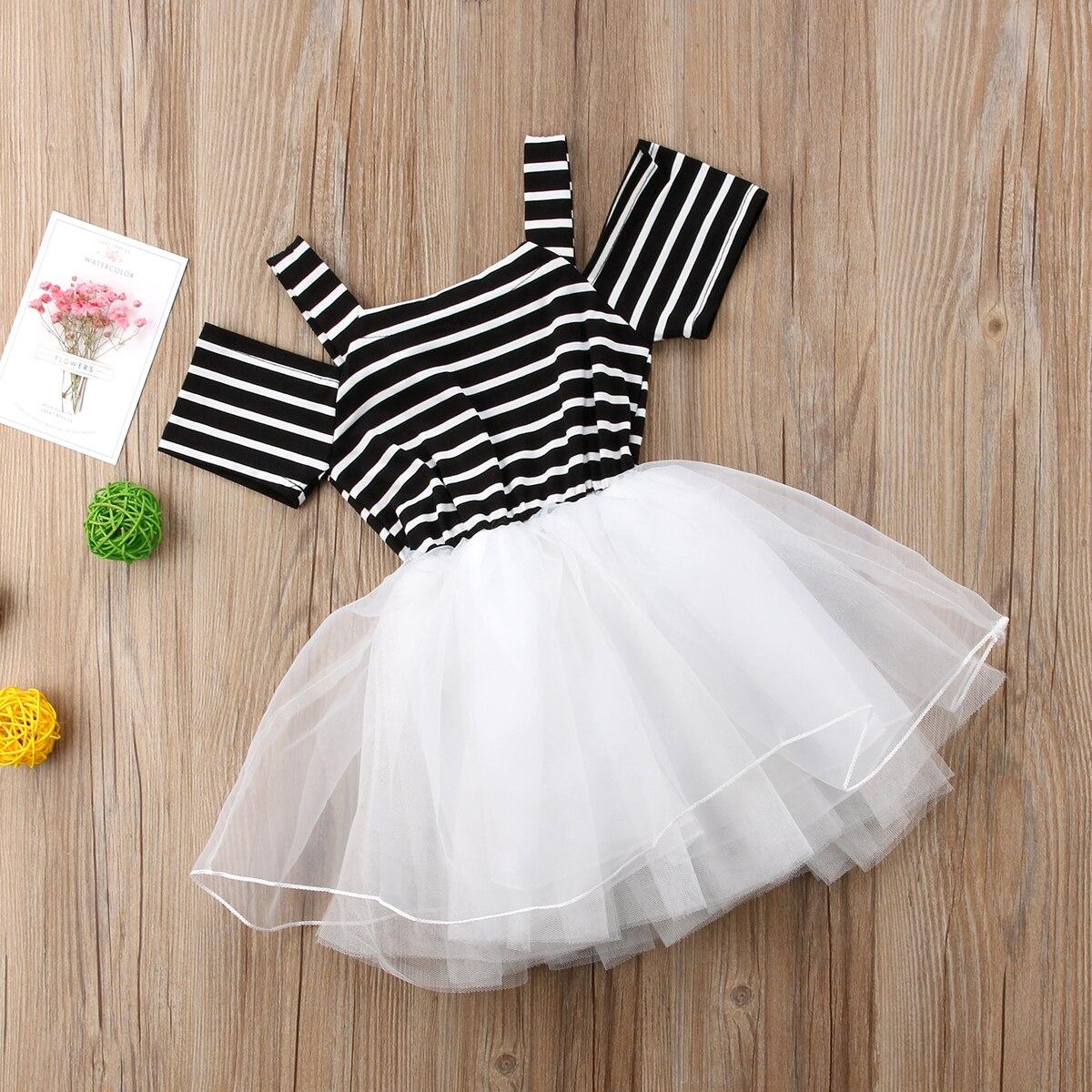 Ambitieus Peuter Baby Meisjes Prinses Mesh Jurk Pageant Party Wedding Tutu Dressy Kleding Voor 0-5 T Yu Uitverkoop Totale Korting 50-70%