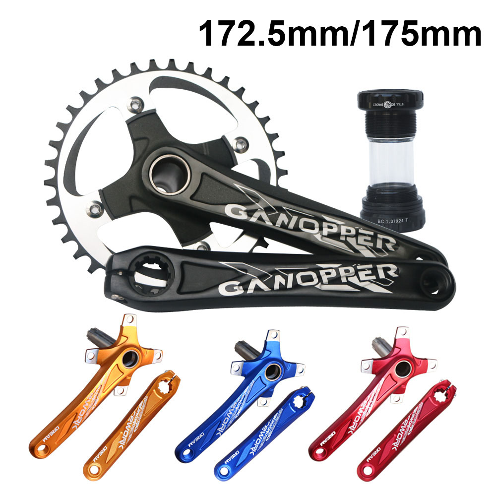 MTB Bike Crankset 172.5mm 175mm Bicycle Crank set 104BCD Chainwheel 32T 36T 38T 42T Narrow Wide Chainring Cycle Track Chainset-in Bicycle Crank & Chainwheel from Sports & Entertainment
