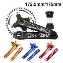 MTB จักรยาน Crankset 172.5 มม.175 มม.จักรยาน Crank ชุด 104BCD Chainwheel 32T 36T 38T 42T แคบกว้าง Chainring CYCLE TRACK Chainset