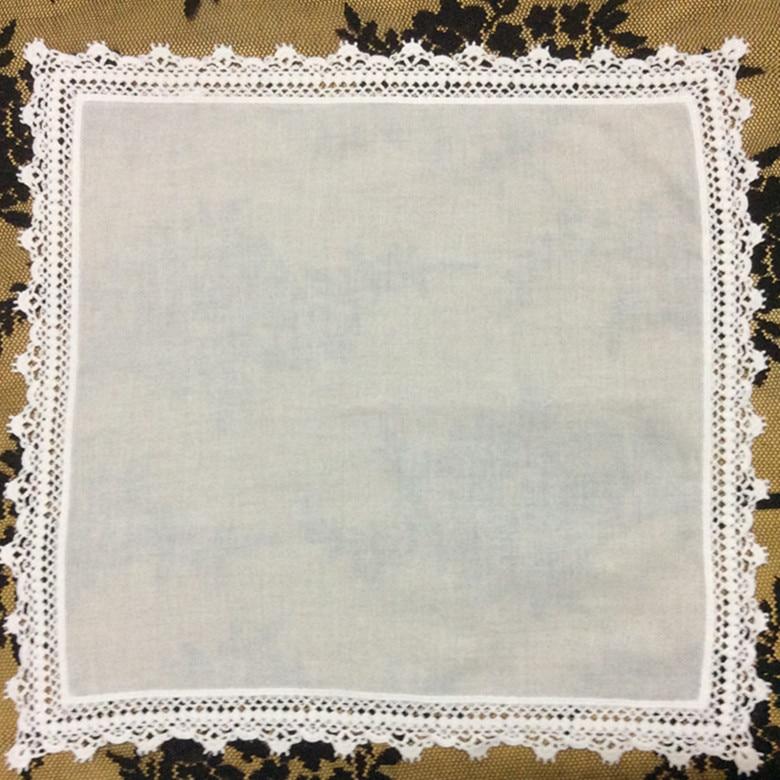 Set Of 12 Fashion Cotton Handkerchiefs For Women /Ladies /Bridal/Wedding Handkerchief Sweet Heart Hankies Vintage Hanky 12-inch