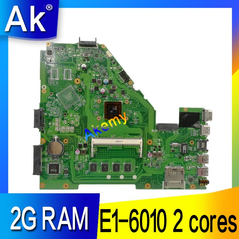 Akemy X550WA Laptop motherboard for ASUS X550WA X550WAK X550W X550WE X552E X550EP X550EA Test mainboard 2G <font><b>RAM</b></font> /E1-6010 2cores image
