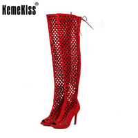KemeKiss Size 32 46 Sexy Lady High Heel Sandals Hallow Out Cross Strap Sandal Women Party