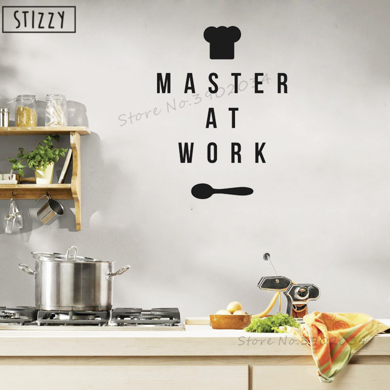 Wall Quote Cook Chef Kitchen sticker Decal Sticker  Any Size /& Colour