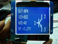 Large Screen Display12864 LCD Transistor Tester Diode Triode Inductor Capacitance ESR Meter LCR METER TEST MOS