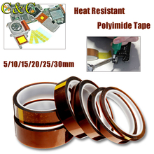 5-30mm Polyimide Tape Heat Resistant High Temperature Adhesive Insulation Kapton Film Heat Resistant Tape for 3D Printer