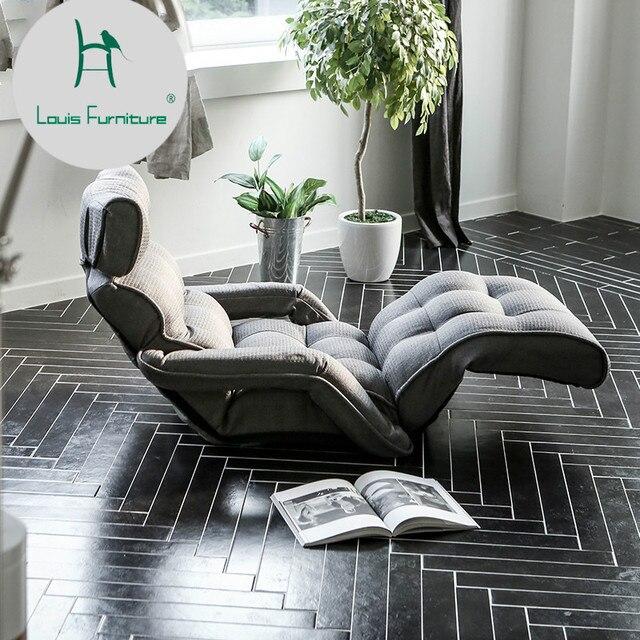 Louis Moda Japonês Sofá Preguiçoso Sofá do Saco de Feijão Sofás Cadeira Dobrável Tatami Cama Do Quarto Janela