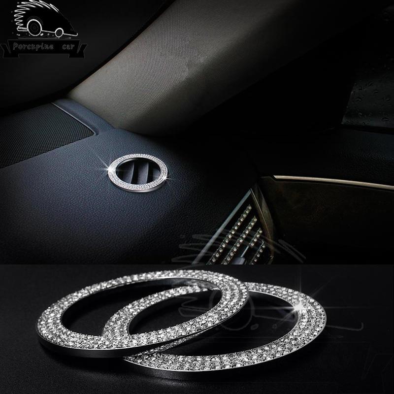 Diamond Car Stickers Air Conditioner Outlet Decoration Trim For Mercedes C/E/A Class GLK GLE CLS W212 E200 E260