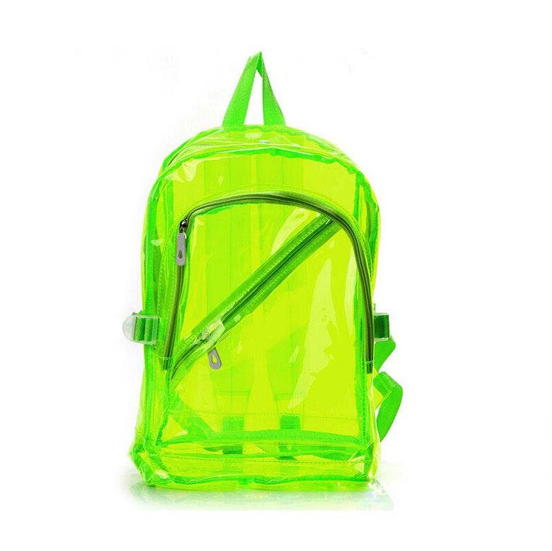 High Quality Transparent Clear Plastic Waterproof Backpack for Teenage  Girls PVC School Bags Shoulders Bag-in Backpacks from Luggage   Bags on ... 2ac31845e70f7