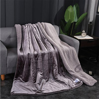 Glossy Pure Color Cashmere Blanket Thick Blankets Double Coral Fleece Bed Sheet Sofa Throws Blanket Children