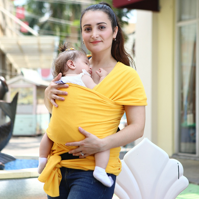2015 Wholesale Baby Sling Mochila Stretchy Wrap Carrier Baby Canguru Backpack Solid Color Two Shoulders Elastic Cotton Hipseat