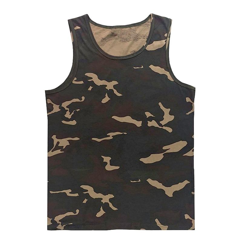 Sale Beach Casual Vest Mens Bodybuilding Singlet Undershirt Boys Camouflage Uniforms Men's   Tank     Tops   Sleeveless Shirt Size 5XL
