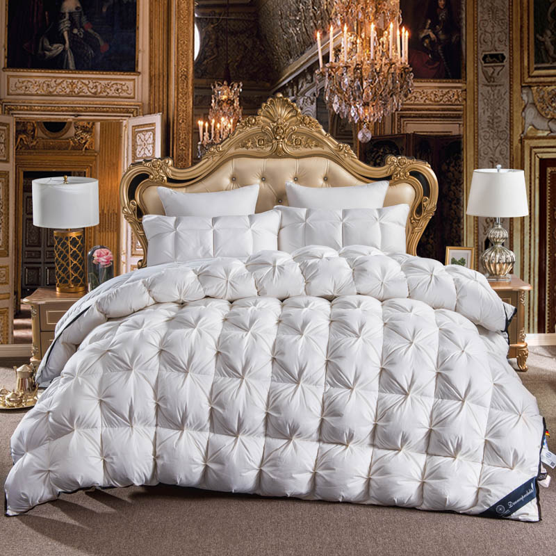 White color Twisted flower Goose Down comforter king queen full twin size Thick winter Quilted Stitching duvet Solid color White color Twisted flower Goose Down comforter king queen full twin size Thick winter Quilted Stitching duvet Solid color