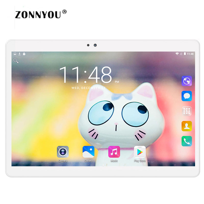 10 inch Tablet PC Android 7.0 Octa Core 4GB RAM 32GB ROM 5.0MP GPS IPS Dual sim cards 3G WCDMA GPS Tablets carbayta 10 1inch mediatek octa core mt6592 ips 4g ram 32g rom cellular 2 sim phone tablet pc 3g wcdma 2g gsm gps wifi android