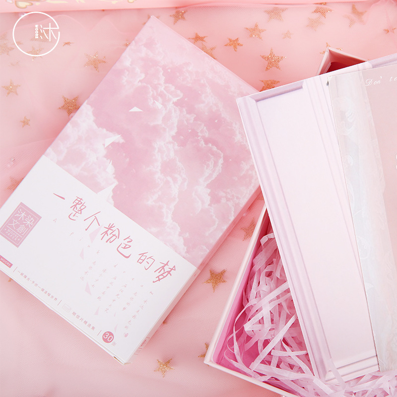 30 Sheets/Set Cute Pink Dream Postcard Greeting Card Birthday Gift Card Message Card
