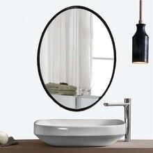 Скандинавское овальное зеркало для ванной, Американское Зеркало для ванной, настенное зеркало, подвесное зеркало, простое moder LO611220