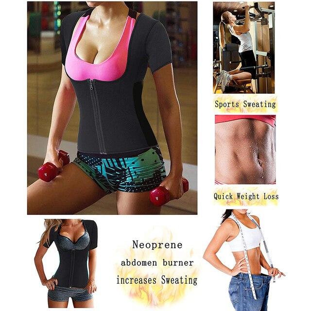 Postpartum Corset Belly Belt Body Shaper Maternity Waist Trainer Women Neoprene Sauna Short Gym Sweat Suit Weight Loss Zip Tops 1