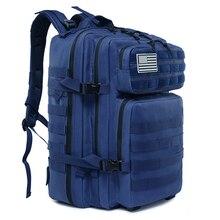 45L Военный Тактический Рюкзак Molle армейская нападение походная сумка рюкзак для охоты на открытом воздухе, для повседневного использования, Водонепроницаемый сумка для путешествий, рюкзак