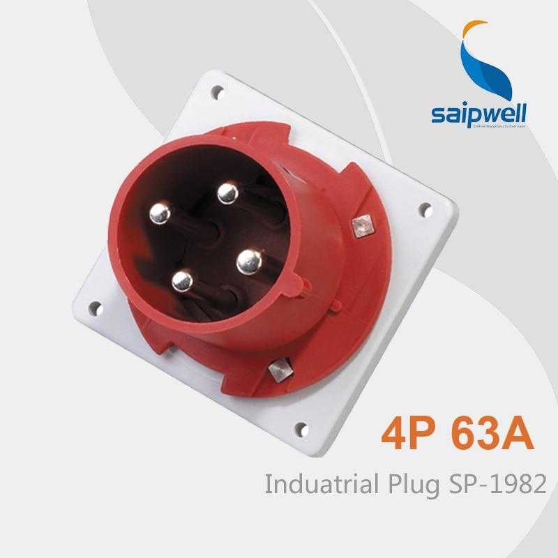Saipwell IP44 4p Industrial Plug Electrical Safety Plugs 4 pins Waterproof Plug SP 1982 High Quality