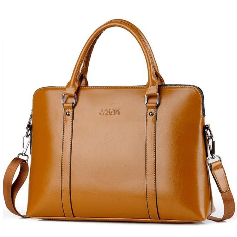 15 Inches Fashion Business Men Women Briefcase Bag For Laptop Bag Casual Man Bag Shoulder Bags Business Document 2019