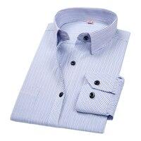 DAVYDAISY 2019 New Spring Men Shirt 8XL 7XL 6XL 5XL Long Sleeved Striped Male Business Causal Shirt Formal Shirt Man DS291 Dress Shirts