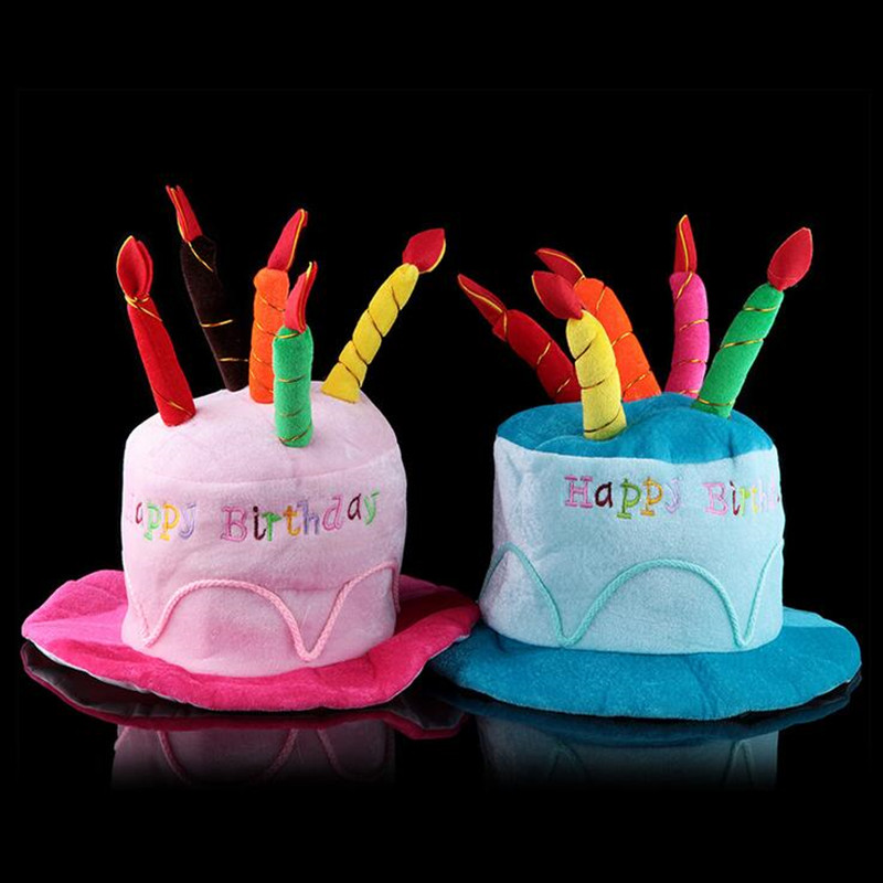 Birthday Cake Hat Children Adults Boy Girl Cake Candle Birthday