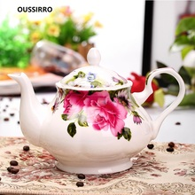 OUSSIRRO 1000ML Ceramic Bone china Pitchers Water Bottles Cold Kettle No Explosion Jug Large Capacity Household Thermos