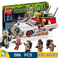 586pcs Ghostbusters Ecto 1 & 2 Movie Police cars 16032 Figure Building Blocks Assemble Children Toys Compatible With Lego