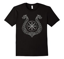 Viking Helm of Awe T-Shirt T Shirt Hot Sale Clothes Funny Clothing Casual Short Sleeve Shirts  Middle Aged Top Tee