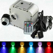 32 W RGB Twinkle LED Fiber światłowodowe lekki silnik aluminium sterownik + 28key pilot zdalnego sterowania RF f PMMA z włókna z tworzywa sztucznego kabel gwiazda DIY oświetlenie sufitowe tanie tanio Włókna światłowodowe światła 28KEY RF remote 32W Ritesdepot