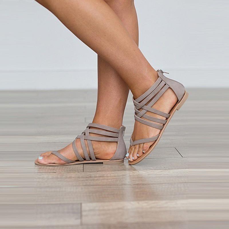Sandalias Romanas Verano Qlsmpuzvg De Gladiador Mujer Zapatos IWEHbe9D2Y