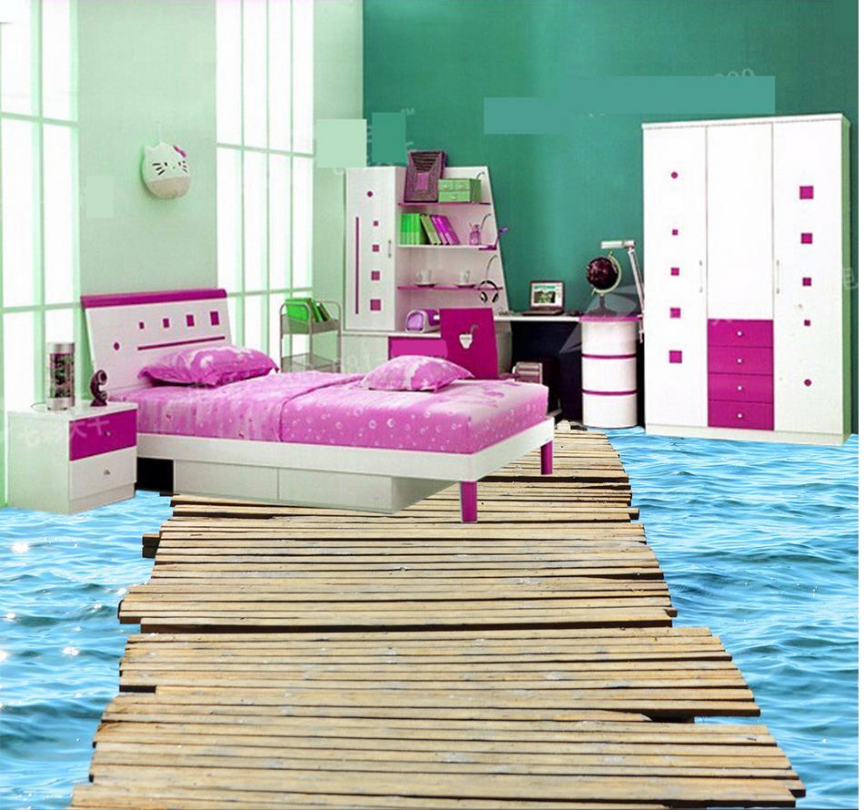 3d flooring waterwood bridge 3d floor painting bathroom - Waterproof floor paint for bathrooms ...