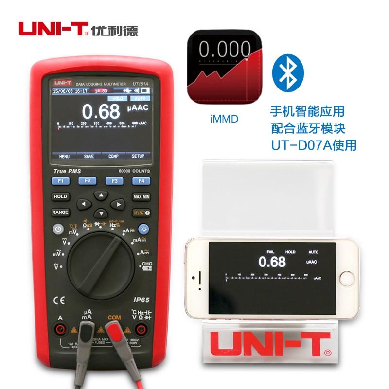 UNI T UT181A Medidor De Temperatura De Registro De True Rms Multimetro Digitale Dmm W/Re Recarregaveis De Li Eu plug|uni-t ut181a|multimetro digitaltrue rms -