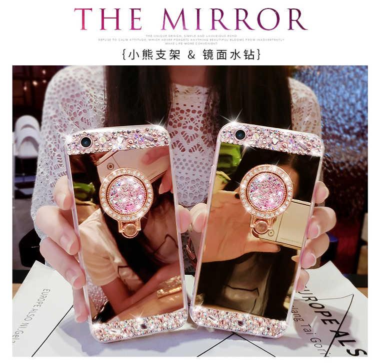 Nova 3 3i чехол для телефона для Huawei Nova 2 Силиконовый новый роскошный держатель кольца мягкий, зеркальный, из ТПУ чехол для Huawei Nova 2 Plus