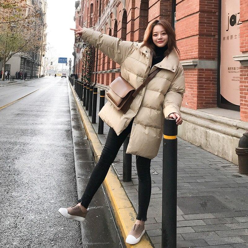 Lâche Veste Beige Nouveau Manteau Costume brown Vers Pain black Coton Épais Le Bas Dames 44ISaqvx