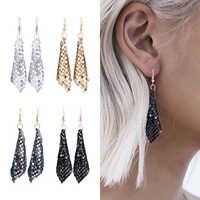 HOCOLE Mode Pailletten Drop Ohrringe Für Frauen Handgemachte Trendy Weibliche Shiny Baumeln Ohrring Erklärung Schmuck Mädchen Hochzeit Party