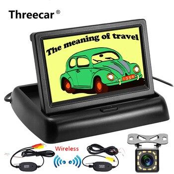 4.3 pouces HD pliable voiture caméra de recul caméra de recul moniteur de sauvegarde inverse LCD TFT affichage 2.4 Ghz Kit de caméra sans fil
