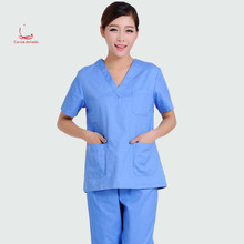 All-cotton hand-washing suit for men and women surgery suits separated by dark green operation